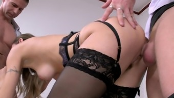 Slim Natasha Starr Fucked By 2 The Males And Pushed To Actually Digest
