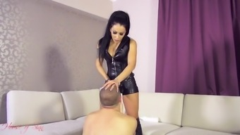 A Leather-Based Tub Chair Strapon Female Friend Hides Femdom Anal Passage Facesitting Boulevard