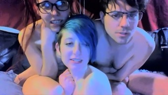 Newbie Date Gives Blowjob At Bisexual Sex Social Gathering