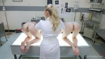 Perverted Clinician Is Fucking Slutty Rectum Hole Of Audrey Trip And Her Red Haired Girlfriend