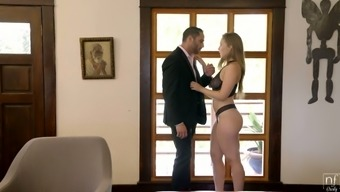 Fabulous Seductress With Big Natural Boobs Lena Paul Is Making Love With Her Admirer