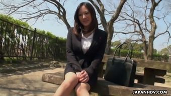 Pretty Japanese Office Hottie Ritsuko Tachibana Wins To Get Her Clit Stimulated