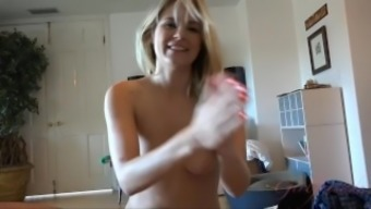 Scarlet Red Loves It When You Cum On Her Hands