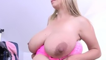 Katerina Hartlova Models Outfits Before Fingering Herself!