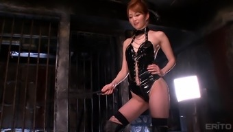 Alluring Miku Ohashi Wearing Leather-Based And Requiring Entertaining With The Lover