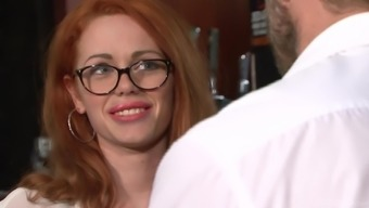 Ella Hughes Trying Spectacles And Requiring Her Pierced Twat Cracked
