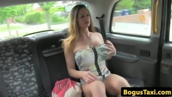 Big Tits Hungarian Anal Passage And Pussy Fucked In Taxi