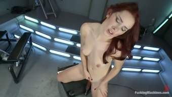 Song Jordan Gets Her Exciting Vagina Drilled By The Machinery