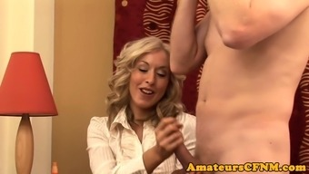 Influential Milf Teases Exposed Bloke In Closeup