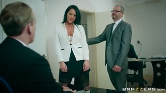 Main Workplace Slut Candi Kayne Meeting The New Employees And Letting In Him
