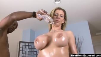 Sara Jay Oiled And Fucked By Large Greater Penis