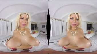 Big Tits Bridgette B Makes A Man'S Cock Challenging Together Body