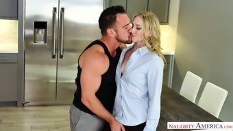 Delicious Blonde Riley Reyes Amusement Rides A Penis And Gets Her Pussy Fucked Doggy Style
