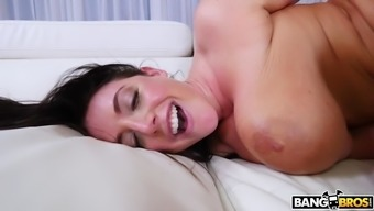 Angela Light Colored On Her Fours Gets Asshole Penetrated By Black Boner
