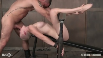 Bald Directed Vagabond By Using Large Boobs Is Fucked By A Couple Of Kinky Dudes