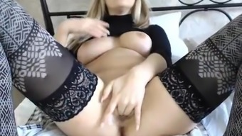 Busty Black Youngster Masturbating On Live Cam