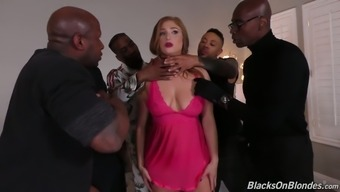 Harlot Partner Skylar Blizzard Takes Part In Ridiculous Gangbang Whereas Her Spouse Is On A Business Trip