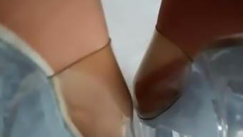 Wifes Understandable High Heels And Nylonfeet From Behind