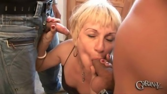 Blond Marta Is Typically A Perverted Gran That Enjoys Bloated Dicks