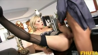 Horny Chicken In Stockings Spreads Her Both Legs For The Anus Invlovement