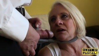 Bigtitted English Gran Gets Rough Control