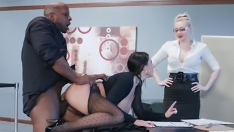 Most Desirable Stud Fucks Small Angela White Colored Down At Work