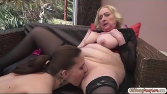 Currency Pair Girl Lyen Parker Is Pussy Taken And Licks Busty Granny