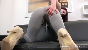 Warm Girl Publication Ray Pisses In Her Own Underwear Before A Ridiculous Dildo Fucking