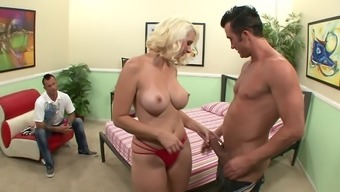 Cuckold Watches His Curvaceous Partner Fuck A Huge Dick Dude
