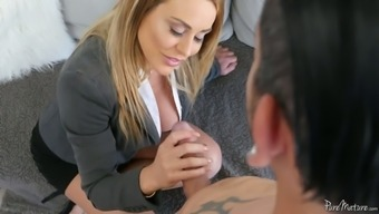 Juggy Stepmom Corinna Blake Is Having Passionate Sex With The Stepson
