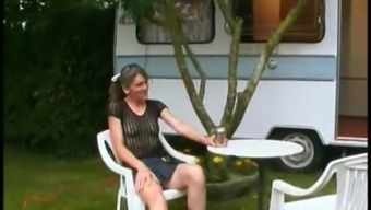 Youg French Visti An Aging Prostitute In Her Camping Auto