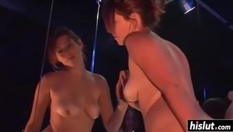 Lovely Girls Dance Upon The Pole