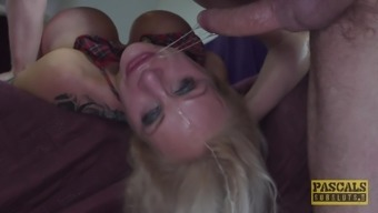 Big Tits Sophie Anderson Gets Her Delicious Crimson Drilled Through A Friend