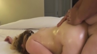 Stepdad Gives Major Titted 20 (Twenty) Year Old Stepdaughter A Creampie