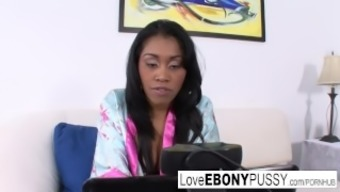 Sizzling Ebony Baby Yasmine Is Yearning A Few White Colored Cock