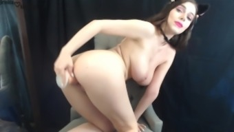 Gorgeous Kitty Along With Large Tits Fucks And Tours Dildo On Cam - Jessica Starling