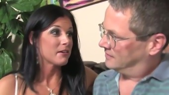 Husband Designer Watches Two Great Prime Cocks Fuck His Wife In This Cuckold Gangbang