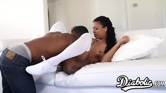 Alluring Kira Noir Is Good At Cowgirl But Not At Babysitting