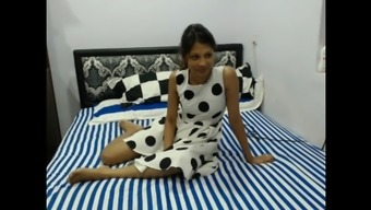 Naughty Pleasant Indian Girlfriend By Using A Couple Of Guys