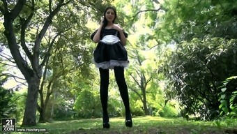Leggy Maid In Beautiful Even Miranda Miller Gets Her Handle And Anus Cracked