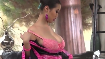 Inviting Asshole Of Nicely Shaped Asian Cowgirl Sharon Lee Is Hammered