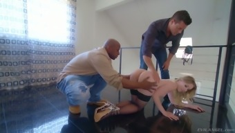 Nice Hooker Riley Reyes Gets Double Penetrated By Black And White Dudes