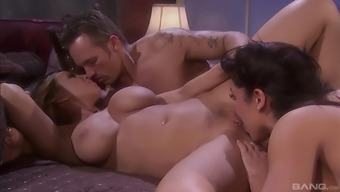 Devon Lee And Sienna West Blessed By The Same Dick In Rough Trio