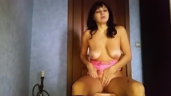 Mom In A Fur Coat And Pantyhose Helped Her Son Cum And Took A Member In Her