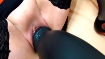 Titanic Dildos And Brutal Fisting Stretch Her Cunt