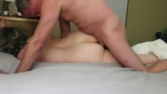 Pinning C, Fucking Her Vag And Anally With Loud Cumming