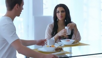 Italian Goddess With Perfect Body Valentina Nappi Is Making Love On The Table