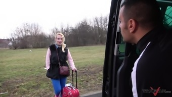 All Blonde Babe Jessica Wants Is To Get Pounded In The Car