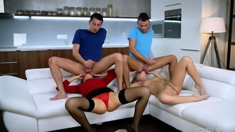 Nasty Foursome Rimming With Tina Kay