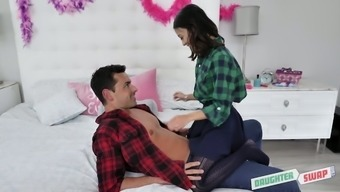 Petite Brunette Naomi Blue Hooks Up With Friend'S Step Daddy